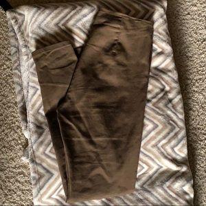 Brown/olive toned skinny slacks
